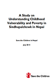 Save the children in Nepal - Vulnerability
